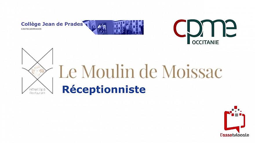 @CPMEoccitanie - des Jeunes Reporters du collège Jean de Prades de Castelsarrasin découvrent le métier de Réceptionniste  à  L'Hôtel & Spa Moulin de Moissac 82